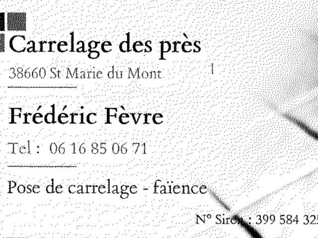 Carte visite Frédéric FEVRE- CARRELAGE